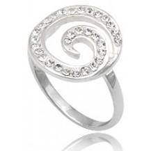 Кольцо TN276.Серебро 925 с кристаллами Swarovski. Размер 18
