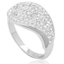 Кольцо TN287.Серебро 925 с кристаллами Swarovski. Размер 18