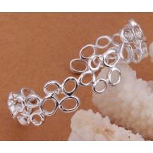 Браслет Соты Tiffany (TF-b202). Покрытие серебром 925