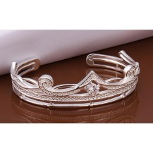 Браслет корона Tiffany (TF-b204). Покрытие серебром 925