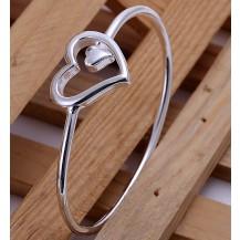 Браслет Сердце Tiffany (TF-b018). Покрытие серебром 925