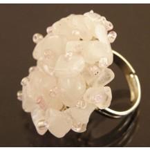 Кольцо крошка, розовый кварц все размеры (t15