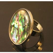 Кольцо радужное, халиотис все размеры (t18
