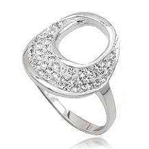 Кольцо TN259.Серебро 925 с кристаллами Swarovski. Размер  17 и 18