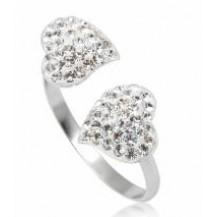 Кольцо TN260.Серебро 925 с кристаллами Swarovski. Размер  18