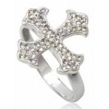 Кольцо TN264.Серебро 925 с кристаллами Swarovski. Размер  17