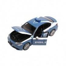 Автомодель - ALFA ROMEO GIULIA POLIZIA (синий, 1:24) от Bburago - под заказ