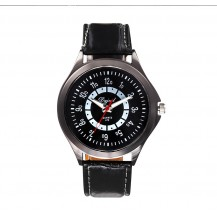 Мужские часы на кожаном ремешке DG470 черные mw14