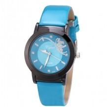Часы женские Prema бабочка Голубые 071-4