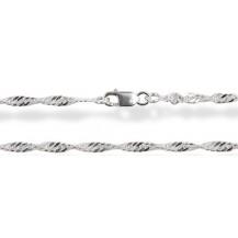 Цепочка 40см. Серебро 925 (плетение - Сингапур)