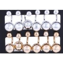 Серьги Диор Dior Зеркальные золотистые