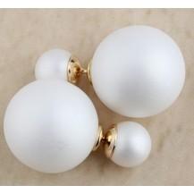 Серьги гвоздики Диор Dior Белые матовые