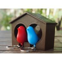 ключница - 2 птички в скворечнике