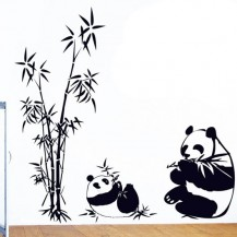 Интерьерная наклейка на стену Панды AY9051