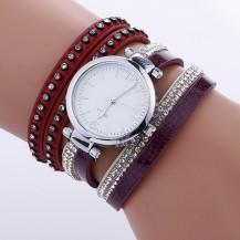 Часы-браслет длинные, наматывающиеся на руку Бордо 112-6
