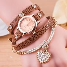Часы-браслет длинные, наматывающиеся на руку Шоколад 089-9
