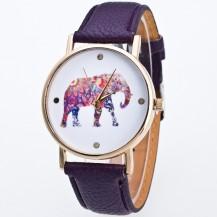 Часы Женева Geneva Слон Сливовые 020-05