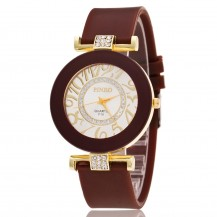 Часы женские силиконовый ремешок Шоколад 085-6