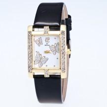 Часы женские Бабочки черные 126-2