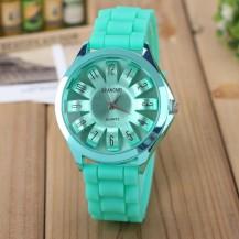 Часы женские Womage силиконовый ремешок Мята 068-5