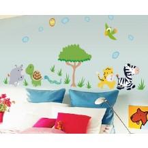 Детская интерьерная наклейка на стену Звери MJ8003