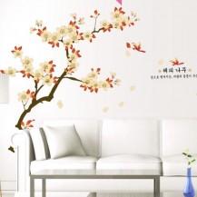Интерьерная наклейка на стену Сакура AY943