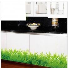 Интерьерная наклейка на стену Зеленый Бордюр SK7016