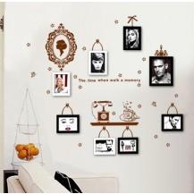 Интерьерная наклейка на стену с рамочками для фото AY6033