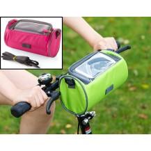 Сумка для путешествий, Велосумка на руль под смартфон (Розовая)