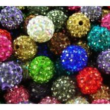 Набор из 10 разноцветных бусин шамбала