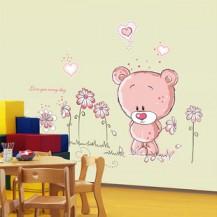 Интерьерная наклейка мишка Тедди AY7017 45х105см