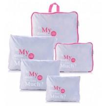 Дорожный набор сумок органайзеров, 5штук Светло-серый