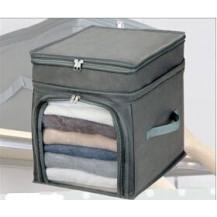 Органайзер для одежды и постельного белья бамбук Серый