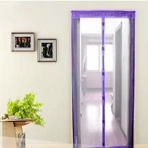Антимоскитная сетка штора на дверь на магнитах Magic mesh без рисунка (210х90). Сиреневая