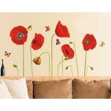 Интерьерная наклейка на стену Маки (mAY758)