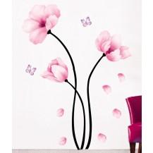 Интерьерная наклейка на стену Цветы Акварель (mAY930)