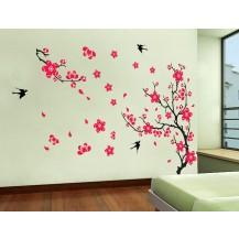 Интерьерная наклейка на стену Цвет Сакуры (ay818 )