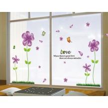 Интерьерная наклейка на стену Сиреневые цветы (mAY650B)