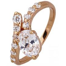 Кольцо с цирконами gold filled позолота GF883 Разм 18