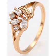 Кольцо женское gold filled позолота с цирконами GF941 Разм 17