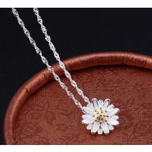 Кулон Цветок Tiffany с цирконом покрытие серебром 925 (TF-N)
