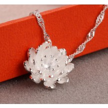 Кулон Лотос Tiffany с цирконом покрытие серебром 925 (TF-X073)
