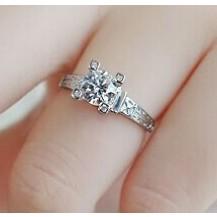Кольцо Tiffany покрытие серебром 925 (TF-T023) Все размеры