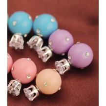 Серьги Диор Dior Сиреневые с камнями