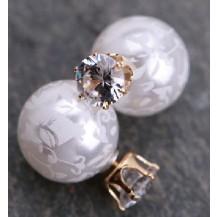 Серьги Dior Диор Узоры цвет белый