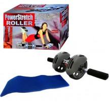 Тренажер-колесо для пресса двойного действия с ковриком