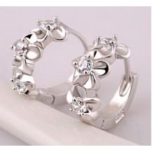 Серьги Tiffany колечки цветы покрытие серебром 925 (TF-E032)