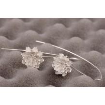 Серьги Tiffany Лотос покрытие серебром 925 (TF-E110)