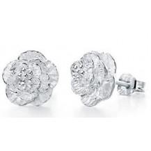 Серьги гвоздики Tiffany Цветок покрытие серебром 925 (TF-E014)