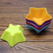 Силиконовая форма для кекса звезда